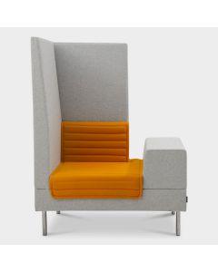 Offecct Smallroom Plus 1000 designbank - Grijs / oranje
