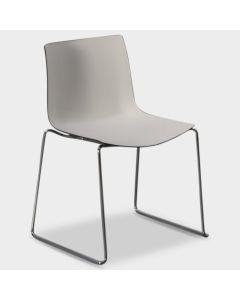 Arper Catifa 46 designstoel - Wit / bruin