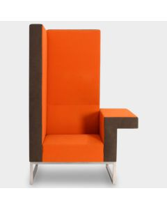 Palau Bricks designfauteuil - Oranje / grijs